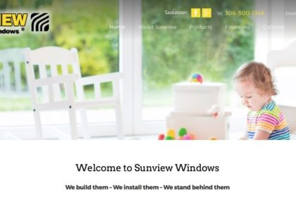 Sunview windows and Doors new website from Trusted Marketing Services