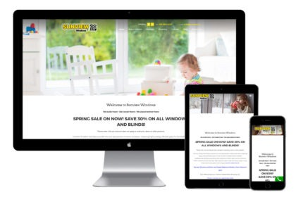 Sunview Windows Website Design