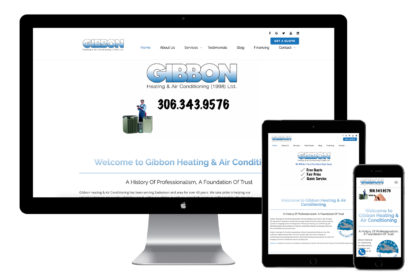 Gibbon Heating and Air Conditioning Website