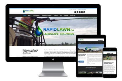 Rapid Lawn Landscape Solutions Website Design