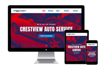 Crestview Auto Service Website Design