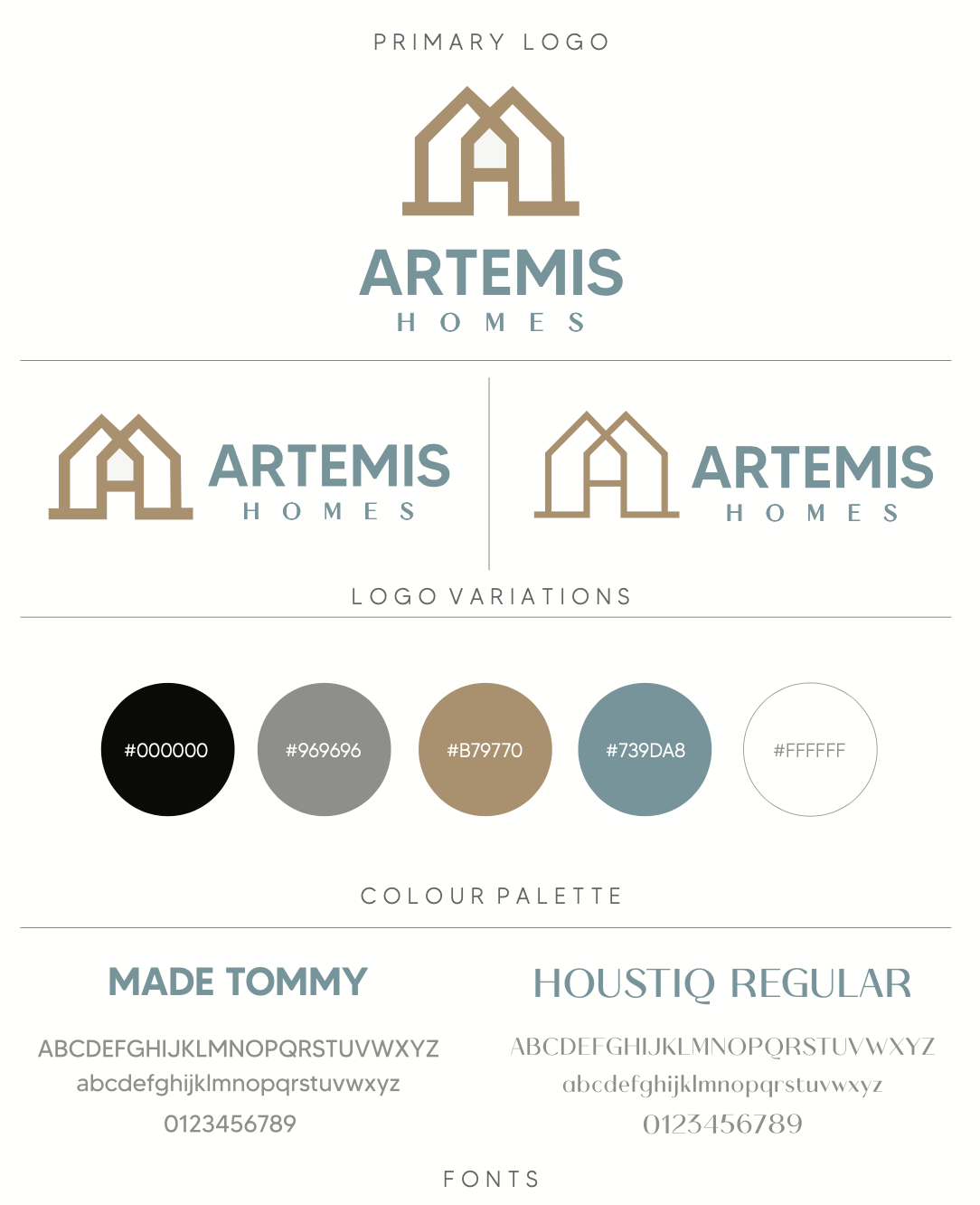 Artemis Homes Sttyle Guide
