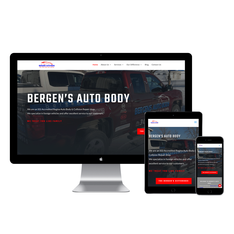 Bergens Autobody Website Design