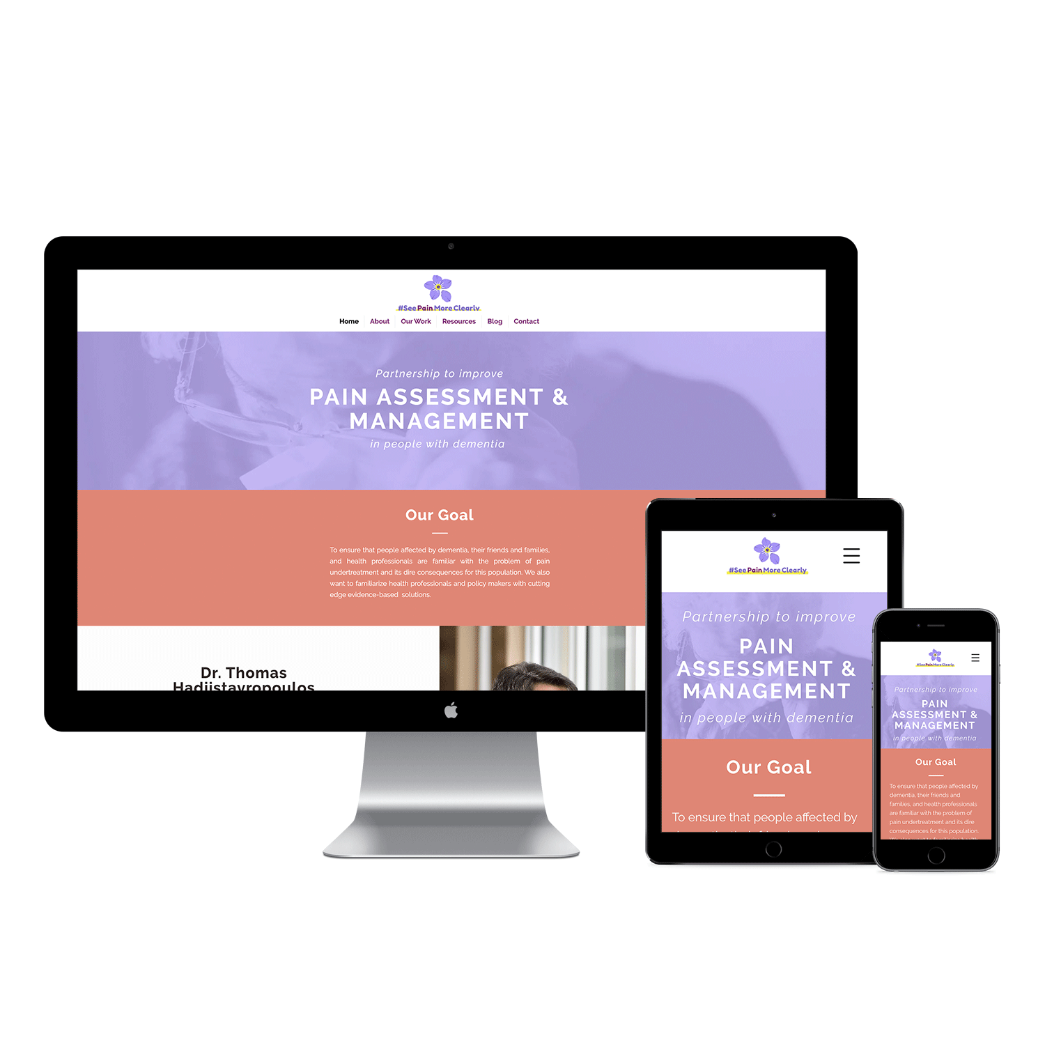 See Pain More Clearly Website Design